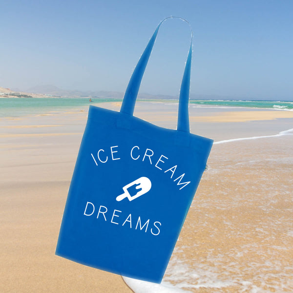 Ice Cream Dreams Slogan Tote Bag