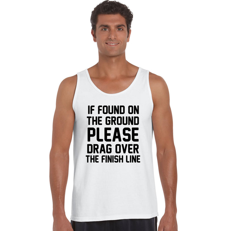 If Found On Ground Please Drag Over The Finish Line Men's Vest