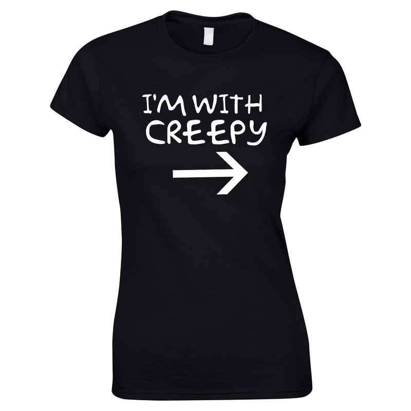 I'm With Creepy Women's Top In Black