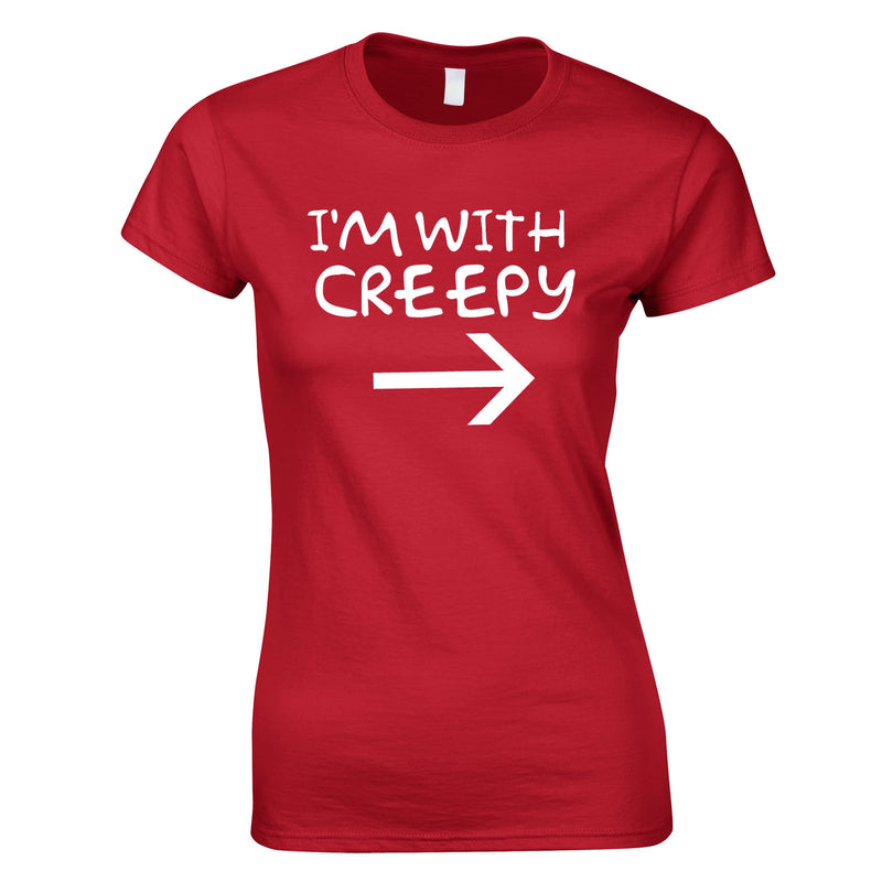 I'm With Creepy Women's Top In Red