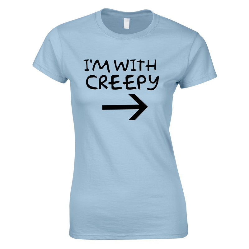 I'm With Creepy Women's Top In Sky