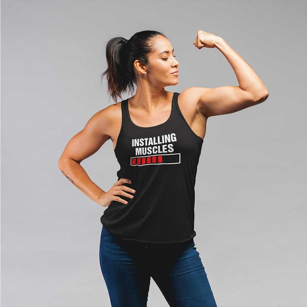 Installing Muscles Please Wait Vest For Women