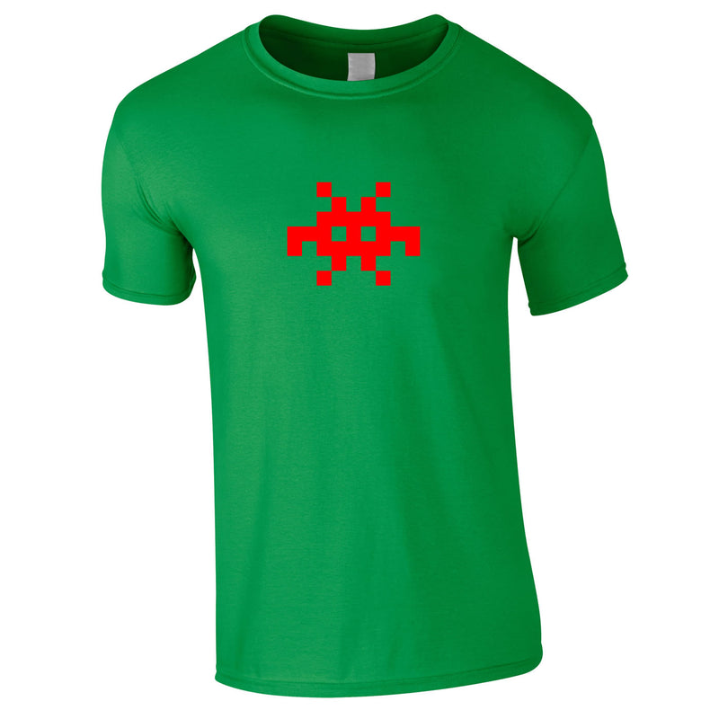 Invader Retro Graphic Tee In Green