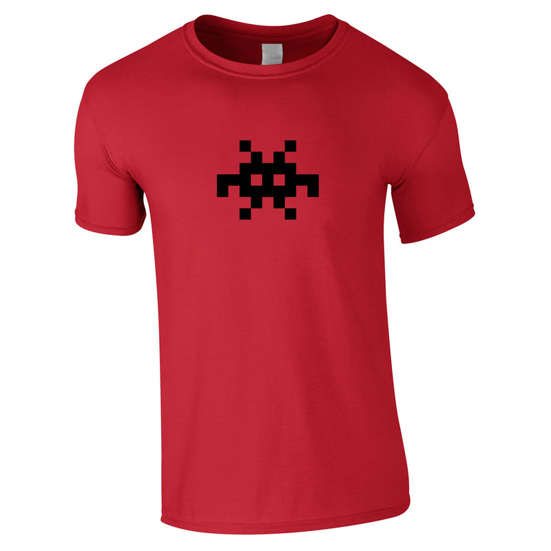 Invader Retro Graphic Tee In Red