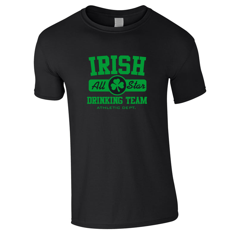 Irish Drinking Team Tee In Black