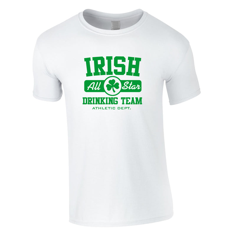 Irish Drinking Team Tee In White