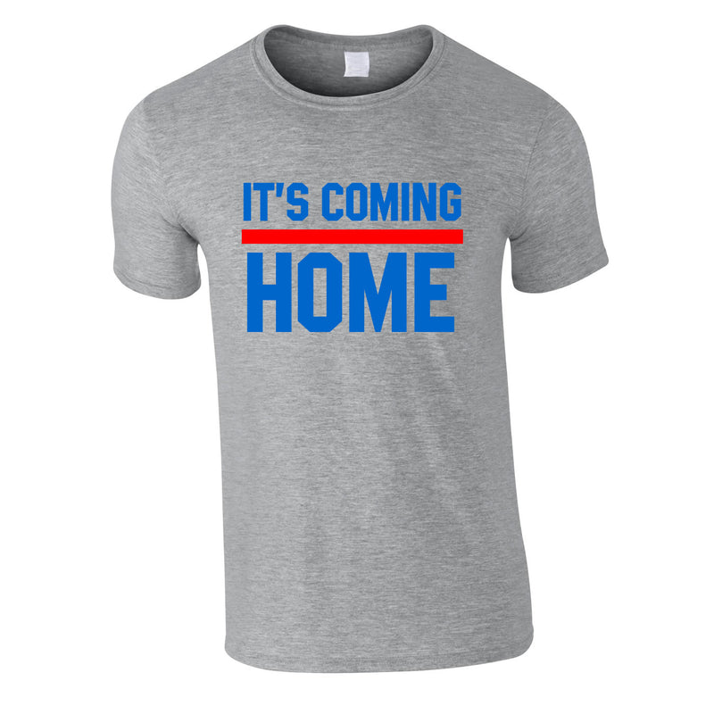 It's Coming Home Tee In Grey