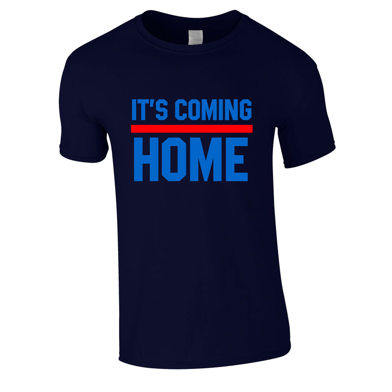 It's Coming Home Tee In Navy