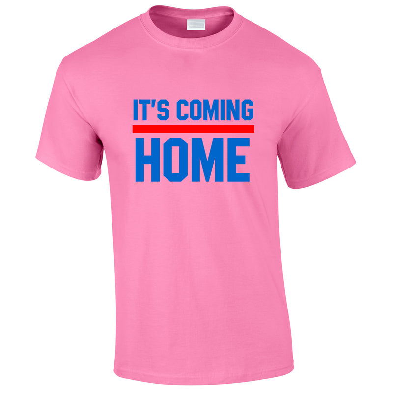 It's Coming Home Tee In Pink