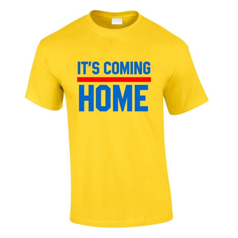 It's Coming Home Tee In Yellow