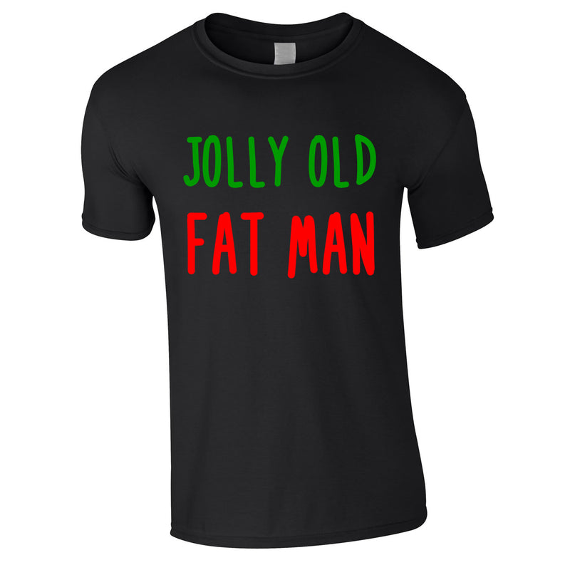 Jolly Old Fat Man Tee In Black
