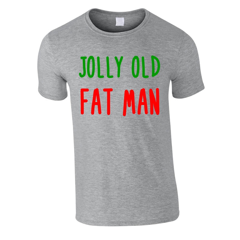 Jolly Old Fat Man Tee In Grey