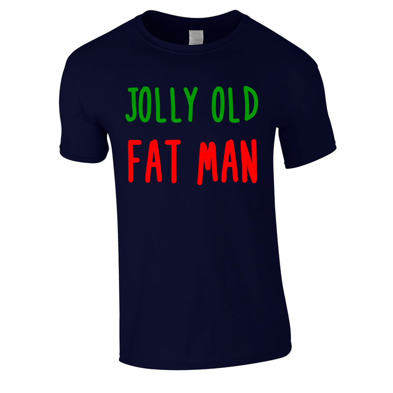 Jolly Old Fat Man Tee In Navy