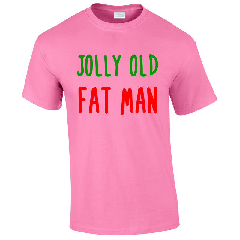 Jolly Old Fat Man Tee In Pink