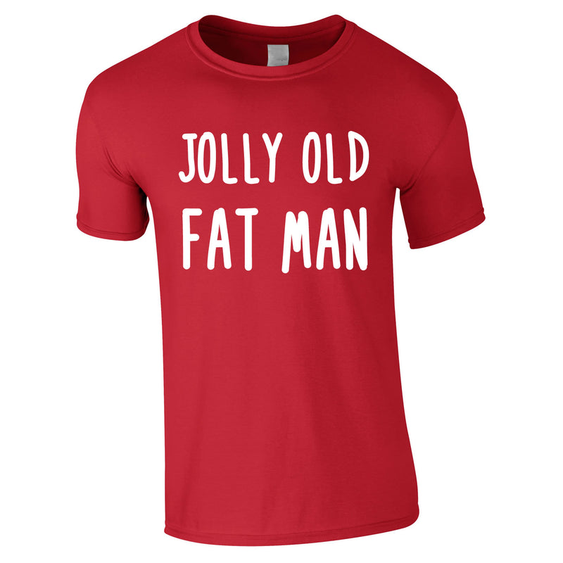 Jolly Old Fat Man Tee In Red