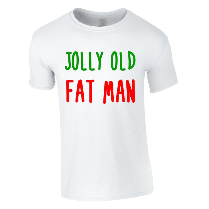 Jolly Old Fat Man Tee In White