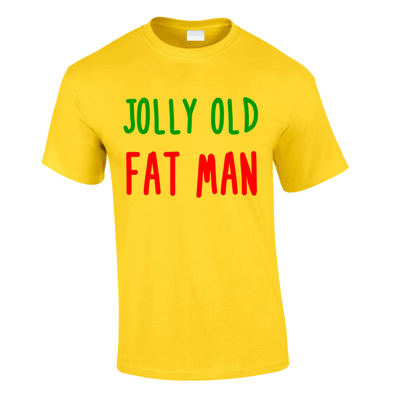 Jolly Old Fat Man Tee In Yellow