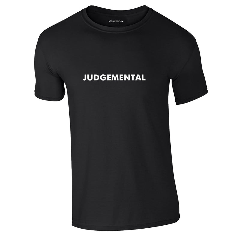 Judgemental Tee In Black