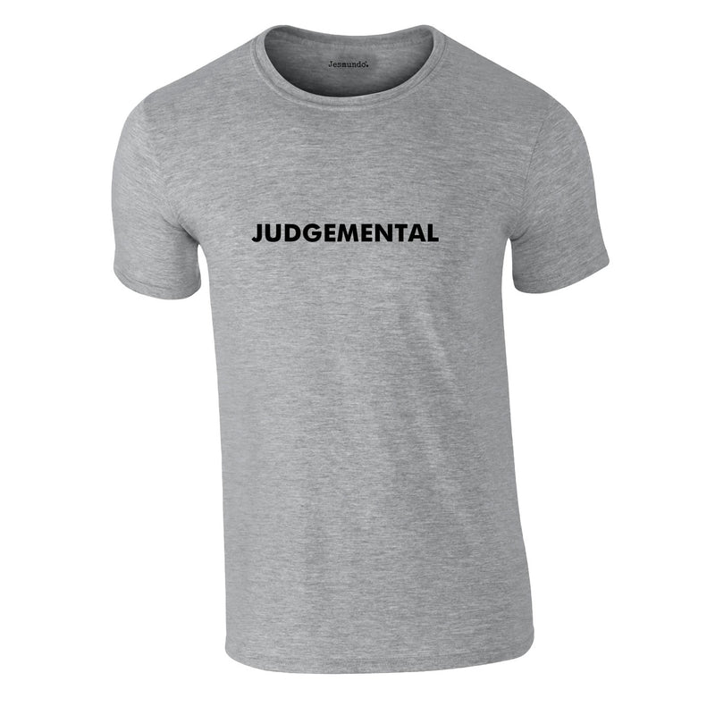 Judgemental Tee In Grey