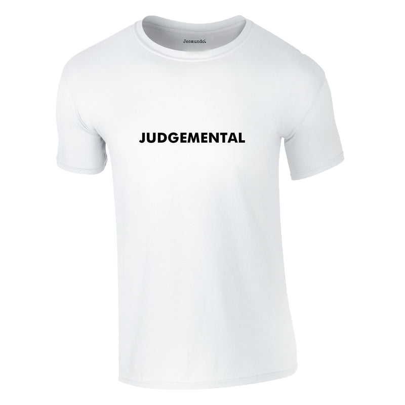 Judgemental Tee In White