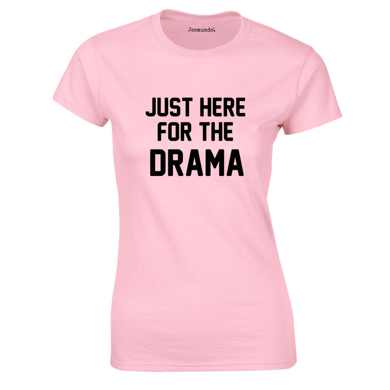 Just Here For The Drama Top In Pink