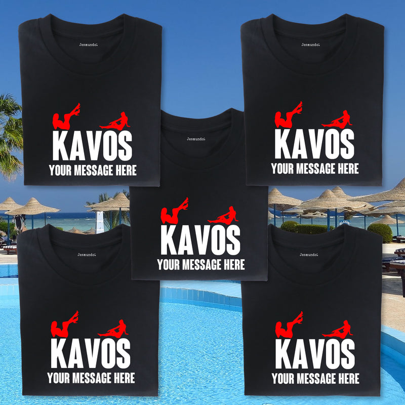 Kavos Girls Holiday T Shirts Personalised