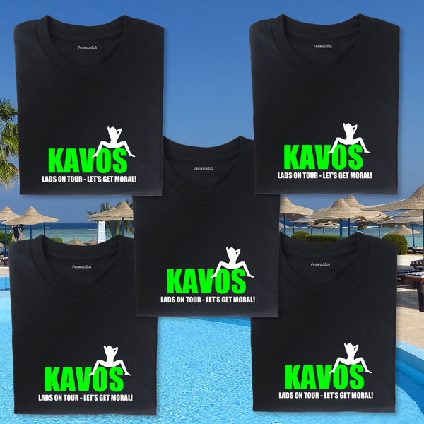 Kavos Lads Holiday Custom Printed T Shirts