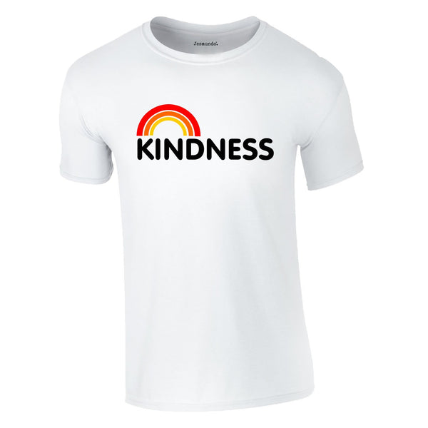 Kindness Rainbow Tee In White