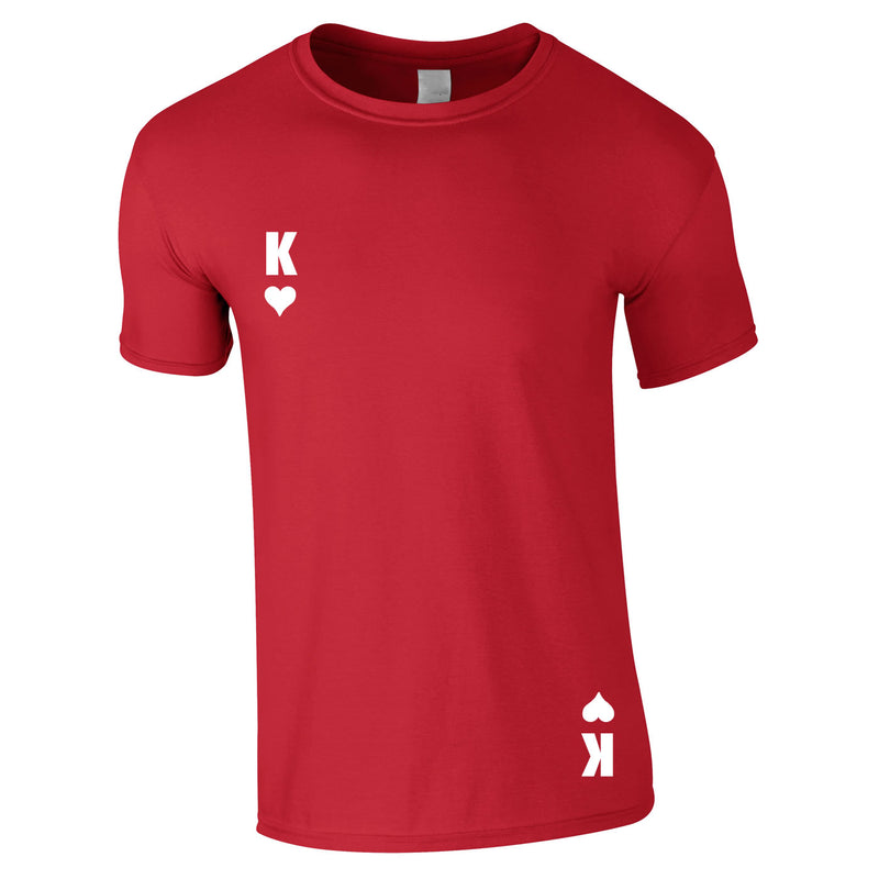 King Of Hearts Tee In Red