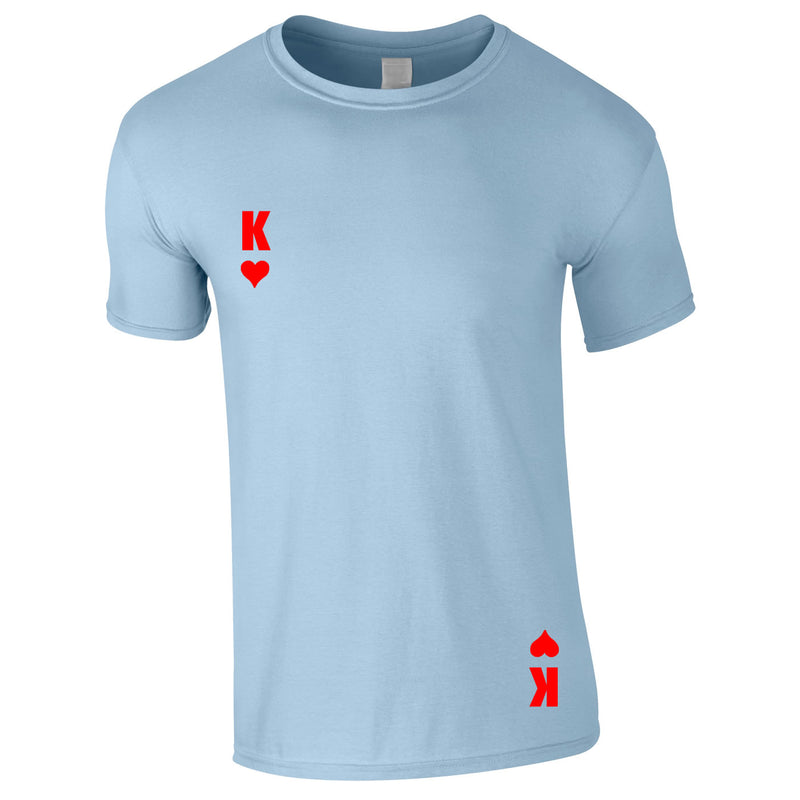 King Of Hearts Tee In Sky