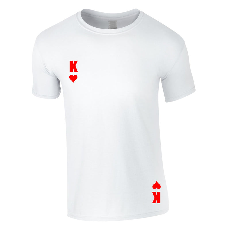 King Of Hearts Tee In White