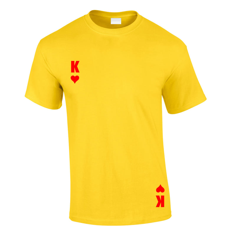 King Of Hearts Tee In Yellow