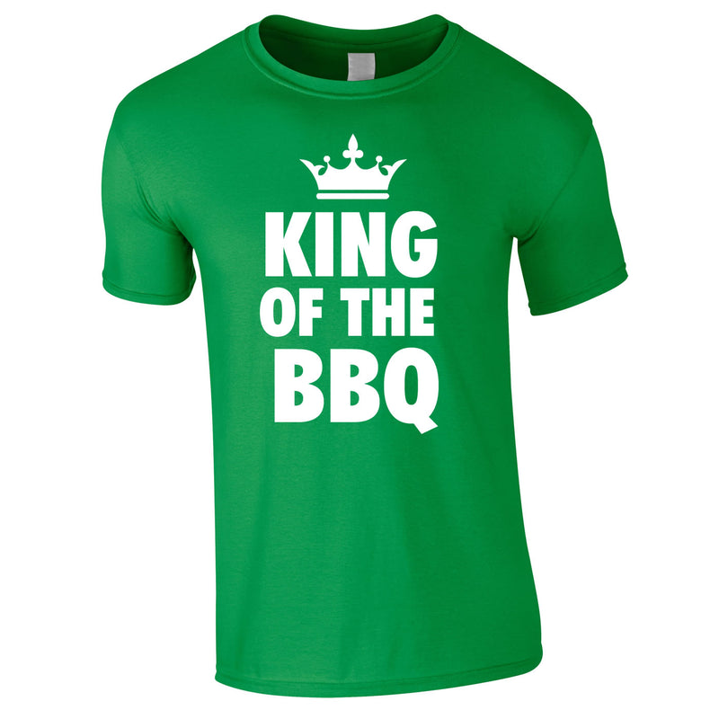 King Of The BBQ Tee In Green