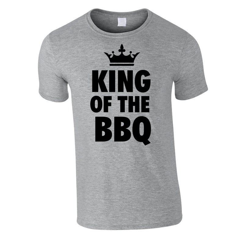 King Of The BBQ Tee In Grey