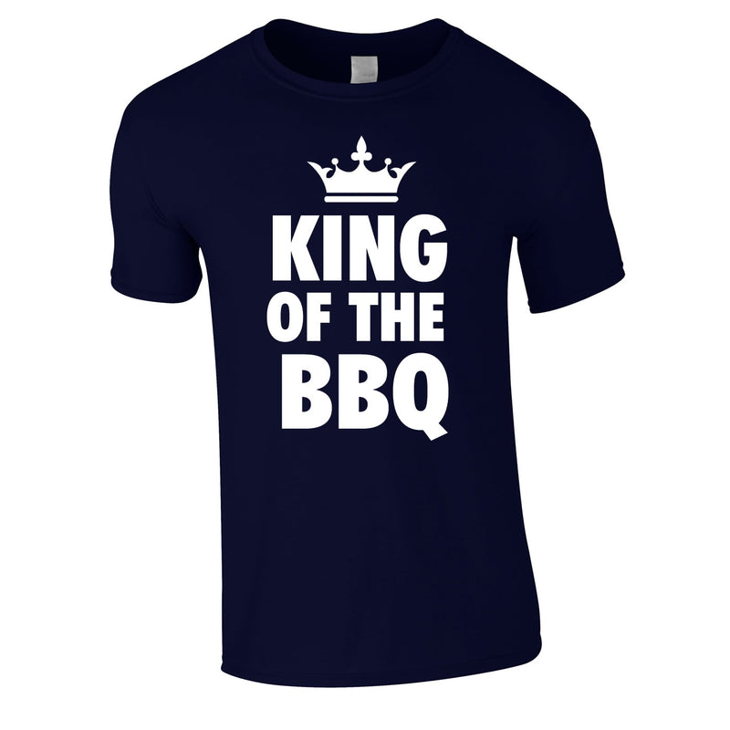 King Of The BBQ Tee In Navy