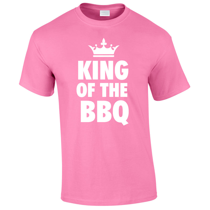 King Of The BBQ Tee In Pink