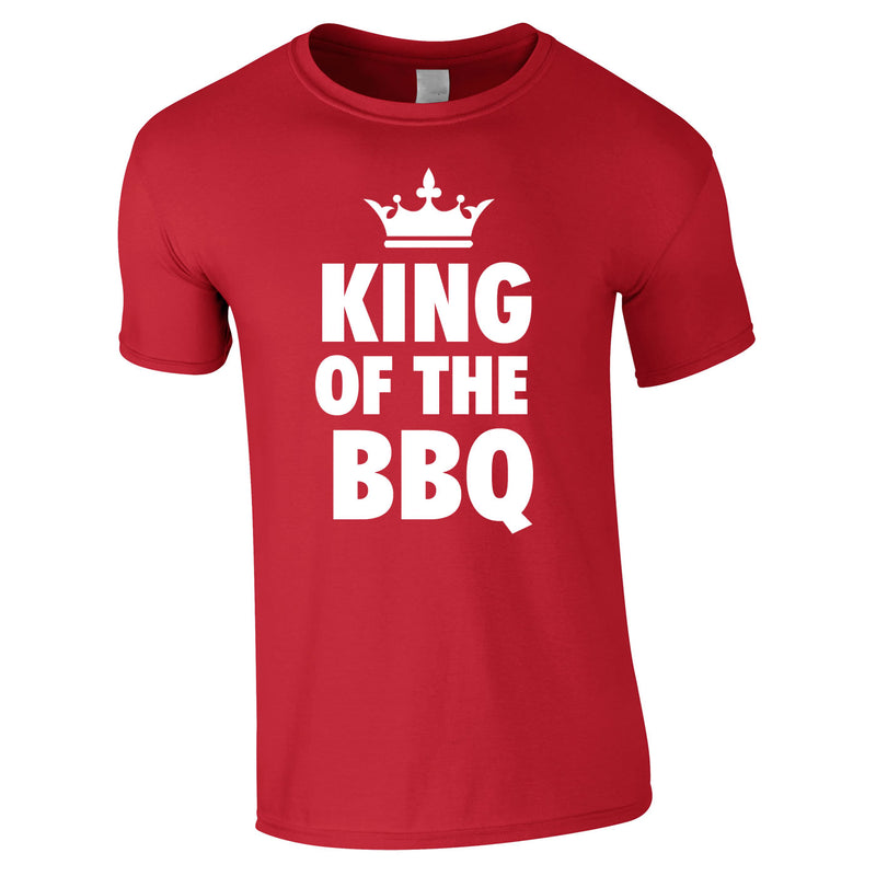 King Of The BBQ Tee In Red
