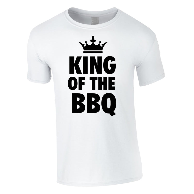 King Of The BBQ Tee In White