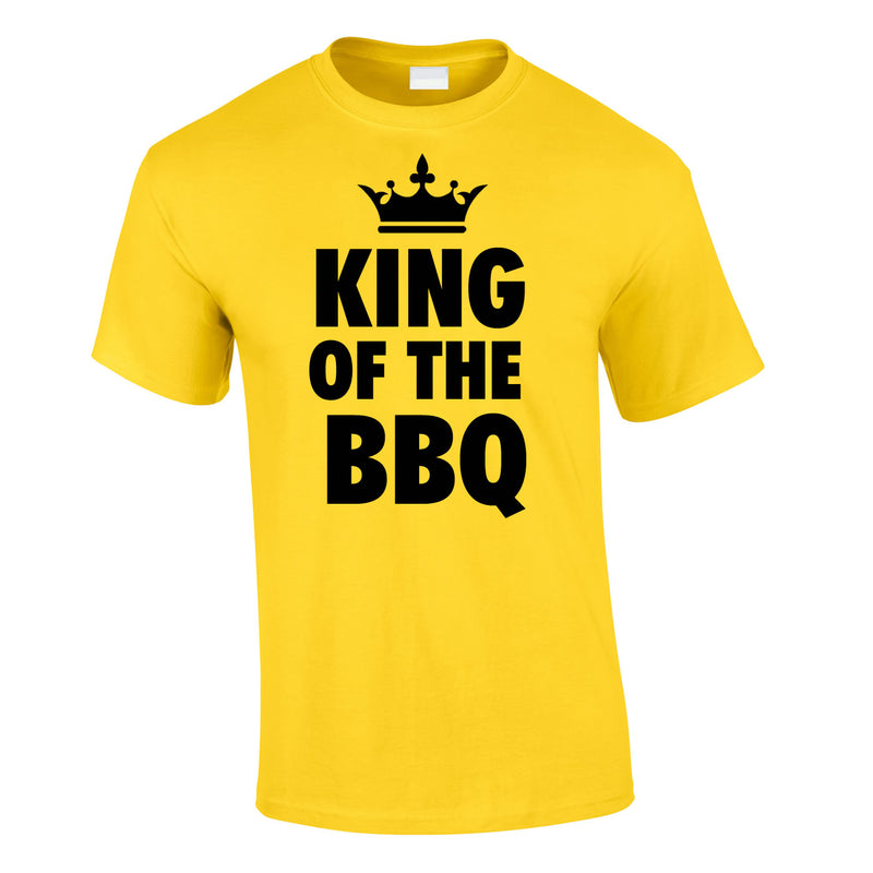 King Of The BBQ Tee In Yellow