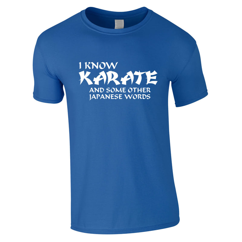 I Know Karate And Some Other Japanese Words Tee In Royal