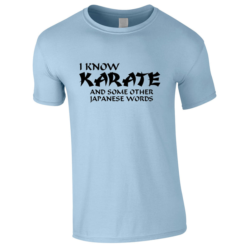 I Know Karate And Some Other Japanese Words Tee In Sky