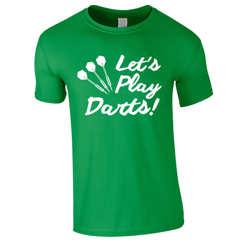 Let's Play Darts Tee In Green