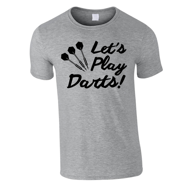 Let's Play Darts Tee In Grey