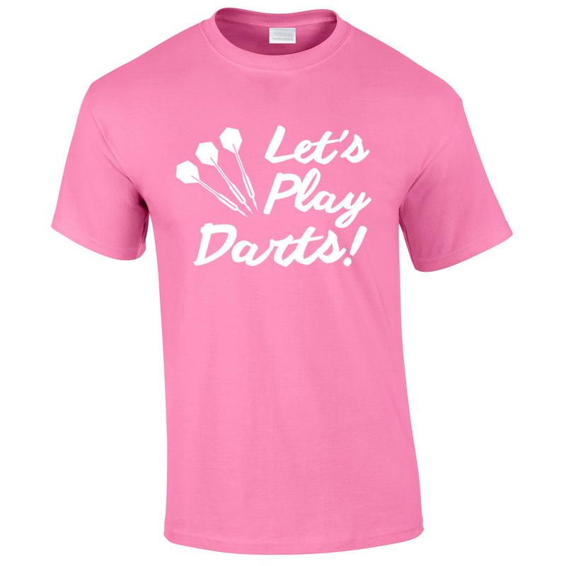 Let's Play Darts Tee In Pink