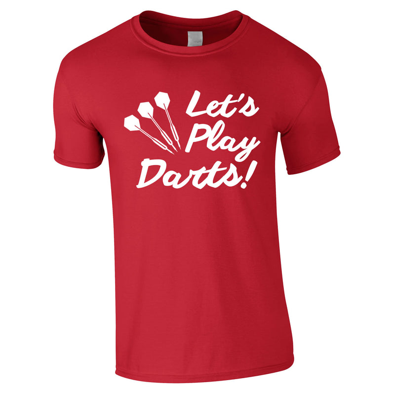 Let's Play Darts Tee In Red