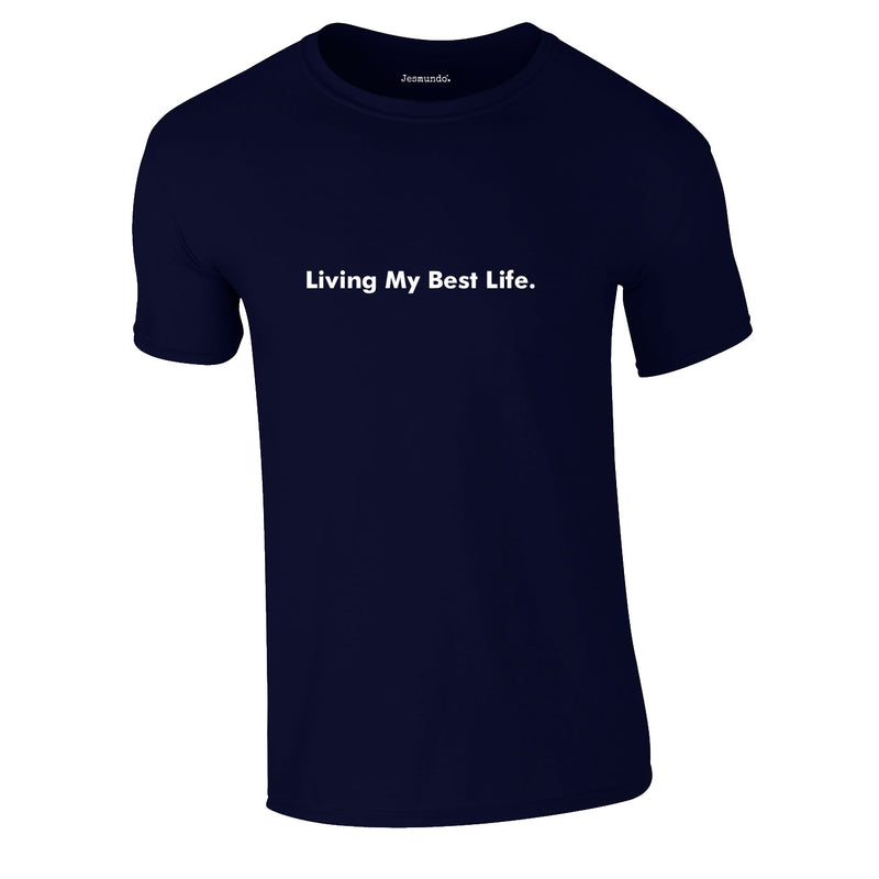 Living My Best Life Tee In Navy