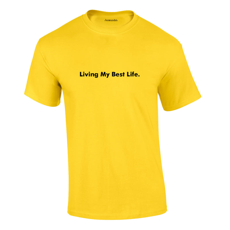 Living My Best Life Tee In Yellow