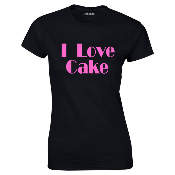 SALE - I Love Cake Womens Tee