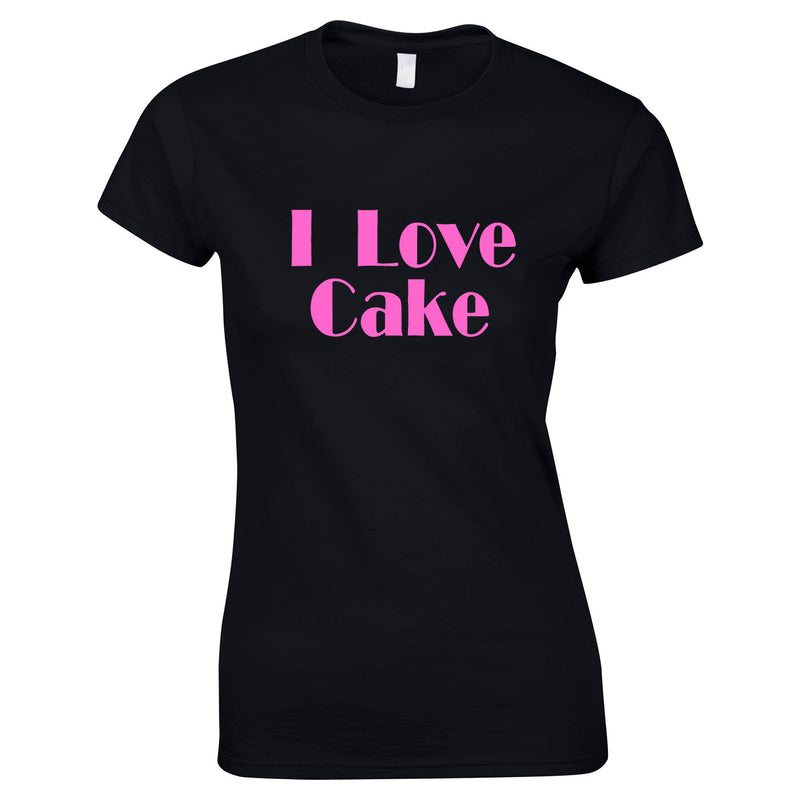 I Love Cake Ladies Top In Black