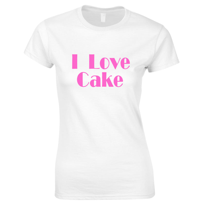 I Love Cake Ladies Top In White